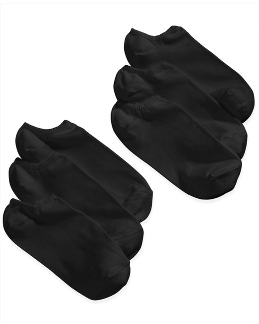 Hue | Black Women's Microfiber Liner Socks 6 Pack | Lyst
