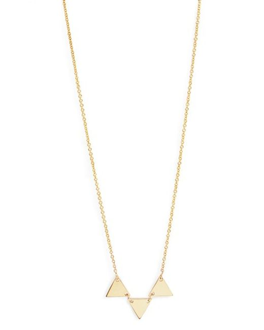 Bony Levy | Metallic Three Triangle Pendant Necklace (nordstrom Exclusive) | Lyst