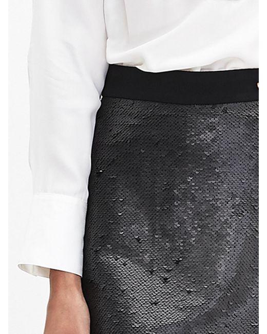 Banana Republic   Black Sequin Pencil Skirt   Lyst
