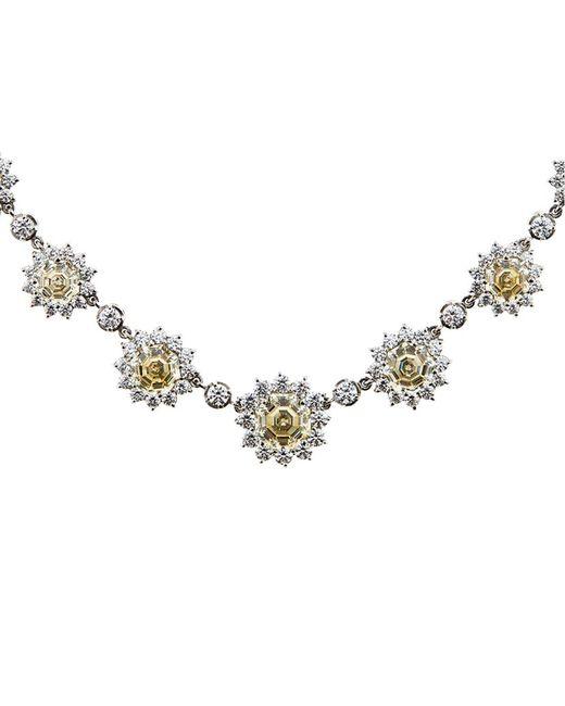 Carat* | Metallic Floral Diamond Necklace | Lyst