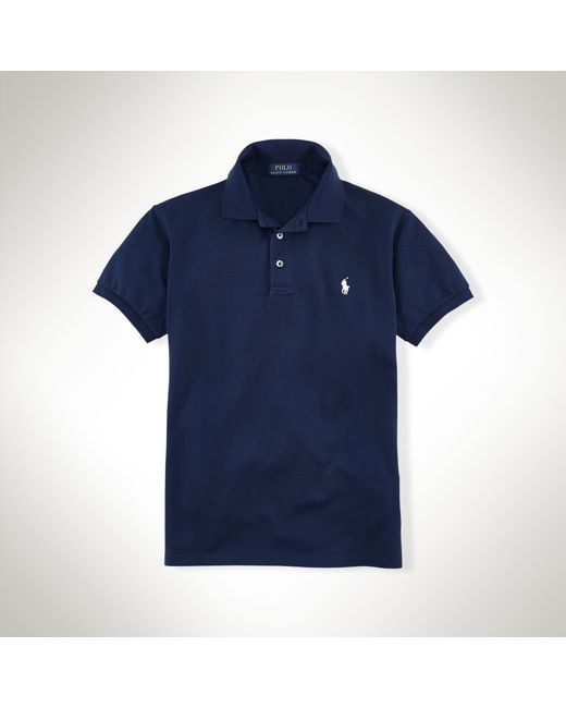 Polo Ralph Lauren | Blue Slim-fit Stretch Mesh Polo for Men | Lyst