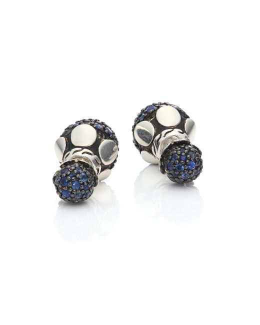 John Hardy | Dot Blue Sapphire & Sterling Silver Double-sided Stud Earrings | Lyst
