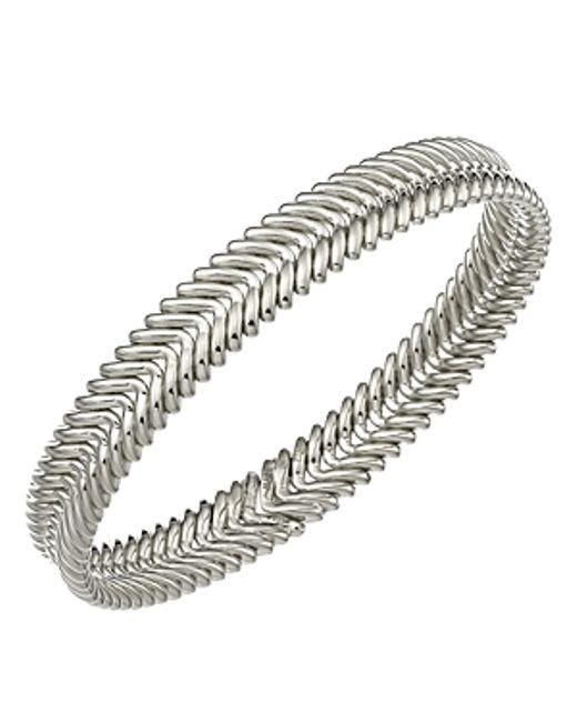 Chimento   Metallic 18k White Gold Armillas Collection Ridge Waves Bracelet   Lyst