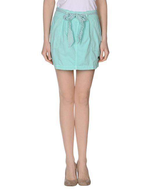 pepe mini skirt in green lyst
