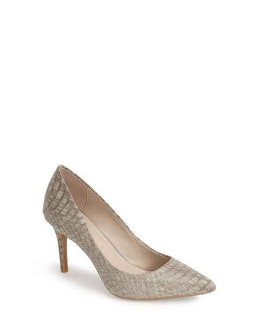 Calvin Klein | Metallic 'gayle' Pointy Toe Pump | Lyst