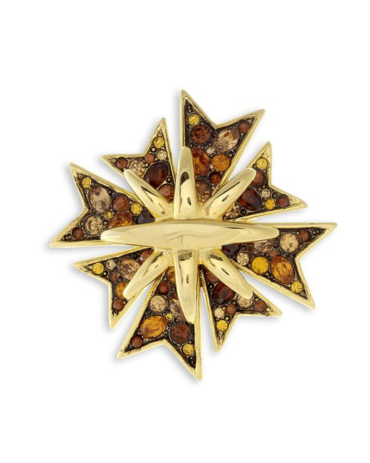 Kenneth Jay Lane | Metallic Topaz Maltese Cross Brooch | Lyst