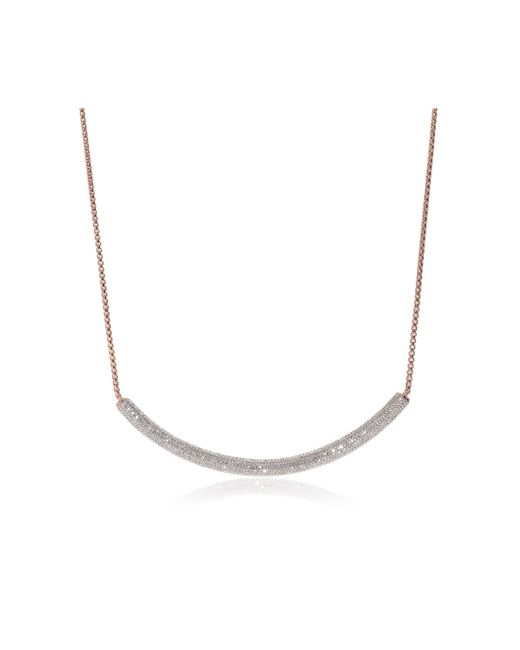Monica Vinader | Pink Esencia Full Diamond Necklace | Lyst