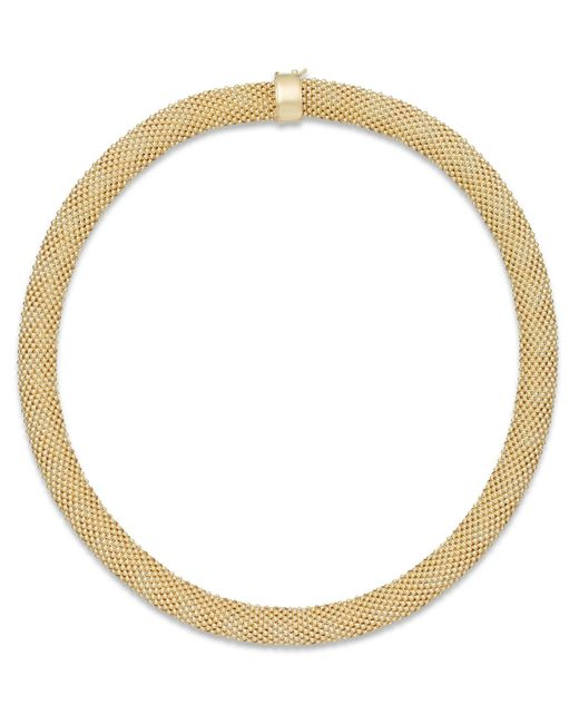 Macy's | Metallic Diamond Mesh Necklace (3/8 Ct. T.w.) In 14k Gold-plated Sterling Silver | Lyst