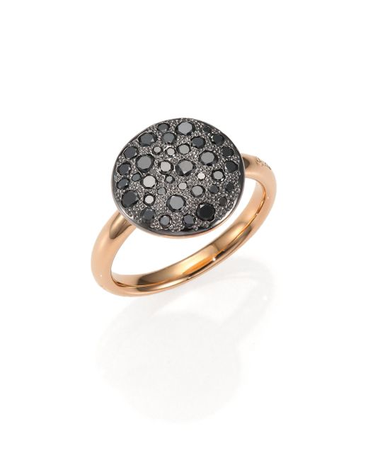 Pomellato | Pink Sabbia Black Diamond & 18k Rose Gold Ring | Lyst