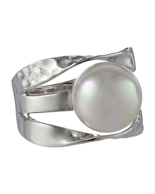 Majorica | Metallic Ribbon 12mm Rd Ring | Lyst