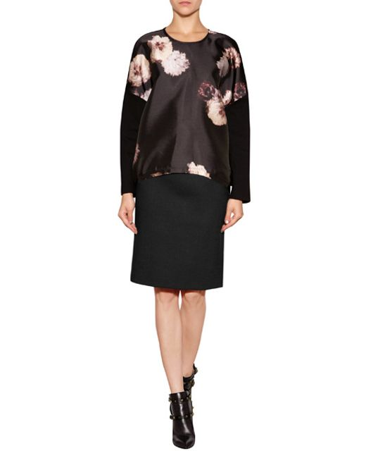 Giambattista Valli | Silk Blend Top With Floral Print - Florals | Lyst