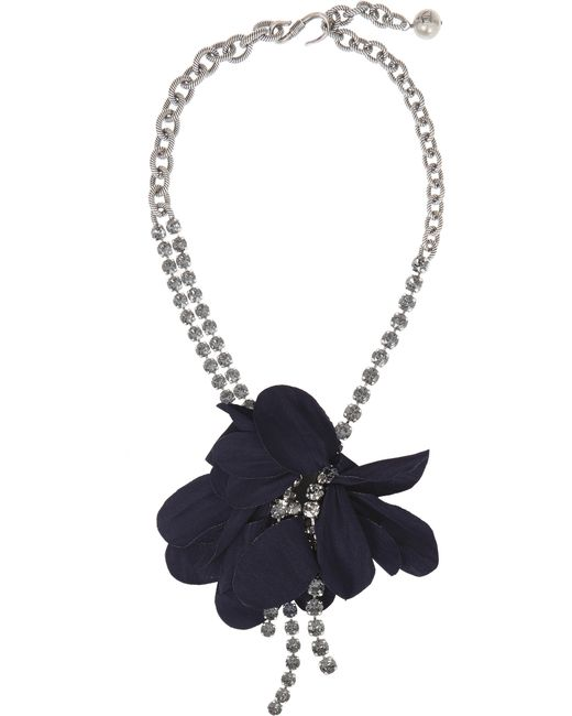 Lanvin | Metallic Short Crystal Eagle Necklace Teal | Lyst