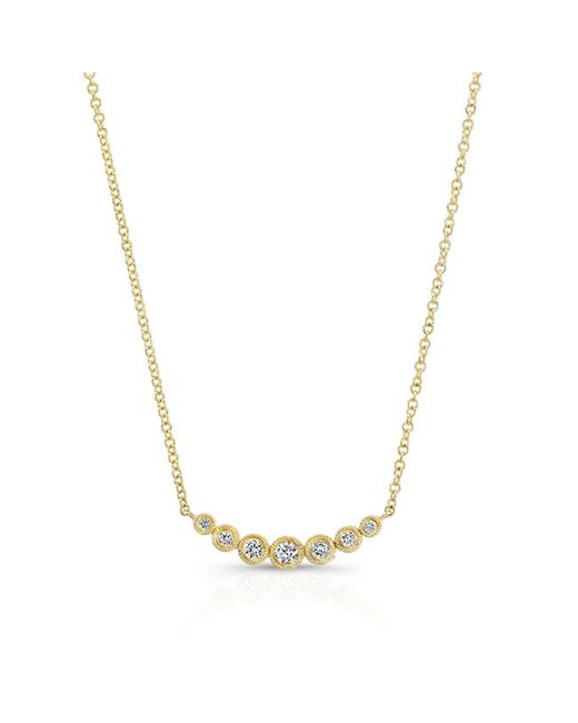 Anne Sisteron | Metallic 14kt Yellow Gold Bezel Set Diamond Hazel Necklace | Lyst