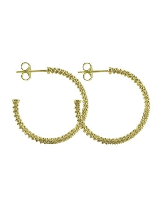 Lagos | Metallic 18k Gold Caviar Beaded Hoop Earrings | Lyst