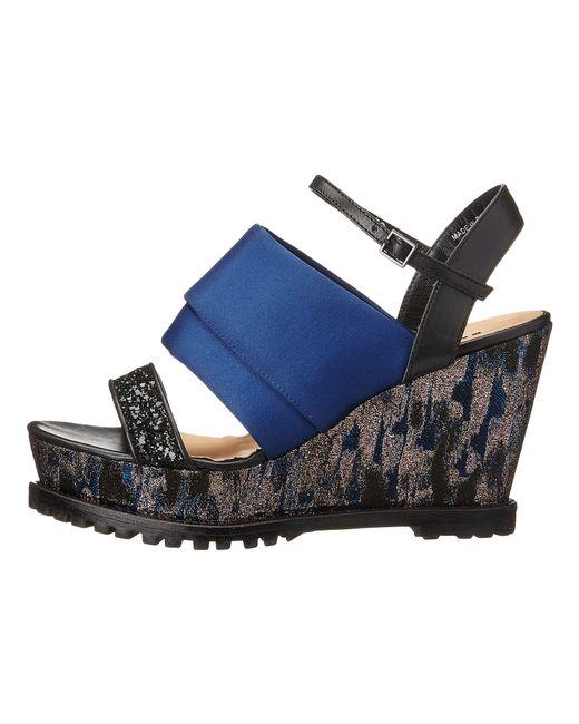 Markus Lupfer | Black Rubber Sole Wedge Sandals | Lyst