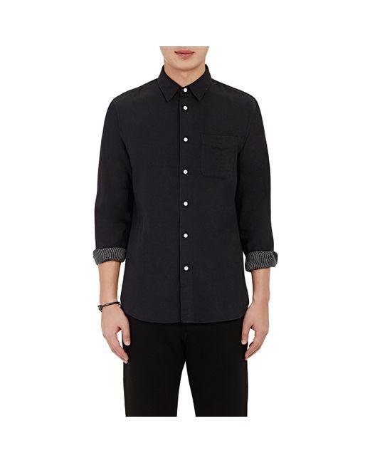 Rag Bone Men 39 S Solid Gauze Shirt In Black For Men Lyst