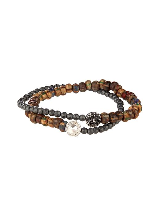 Luis Morais | Brown Diamond, Pyrite And White-Gold Bracelet for Men | Lyst
