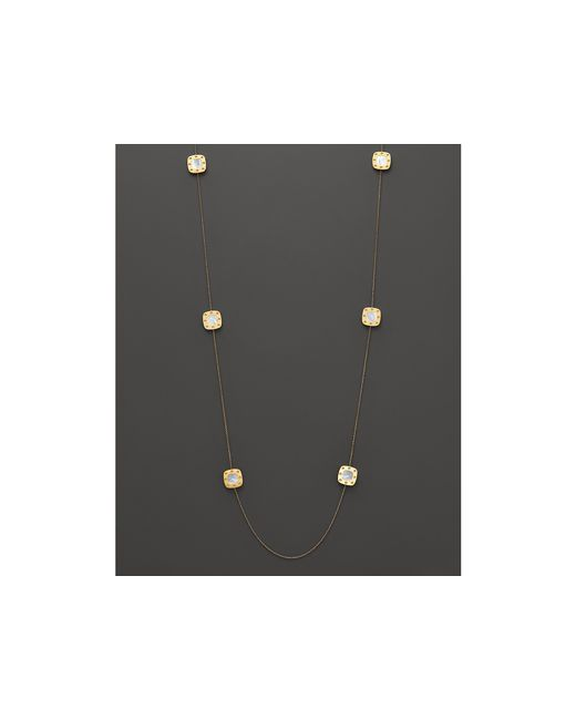 Roberto Coin | Metallic 18k Yellow Gold And Mother-of-pearl Pois Moi Station Necklace, 39"