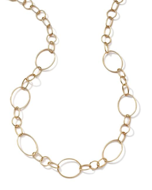 Ippolita   Metallic 18k Gold Glamazon Link Necklace With Seven Ovals   Lyst