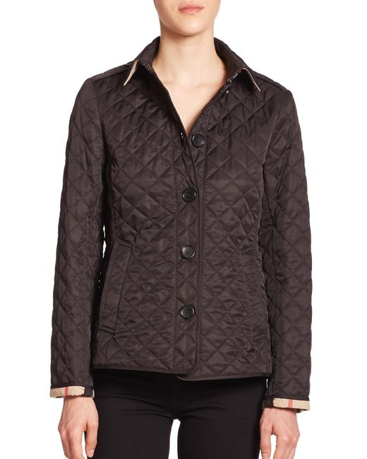 Burberry Brit Ashurst Diamond Quilted Jacket In Black Lyst