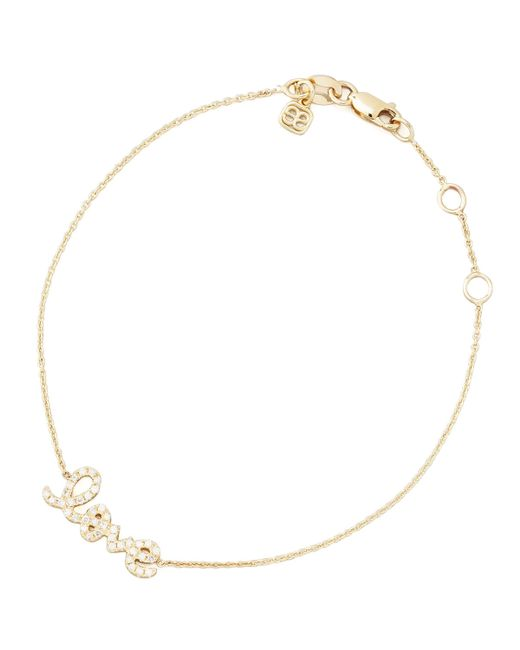 Sydney Evan | Metallic Small Yellow Gold Diamond Love Bracelet | Lyst