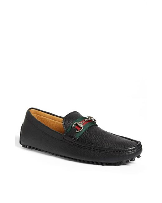 Gucci | Black 'damo' Driving Shoe for Men | Lyst