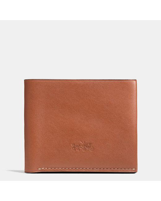 COACH | Brown Billfold Wallet In Leather for Men | Lyst