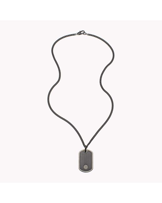 Tommy Hilfiger | Black Dog Tag Necklace for Men | Lyst