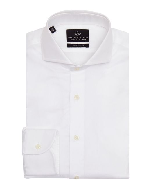 Chester Barrie | White Textured Tailored Fit Long Sleeve Shirt for Men | Lyst