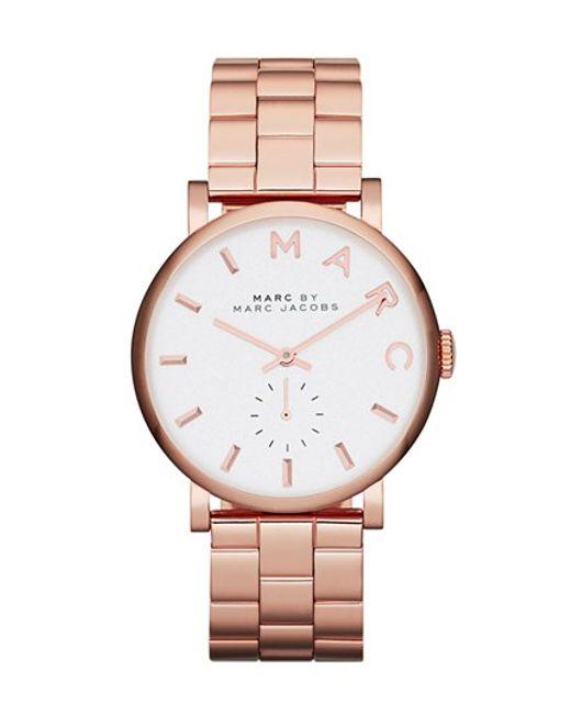 Marc Jacobs | Pink 'baker' Bracelet Watch | Lyst