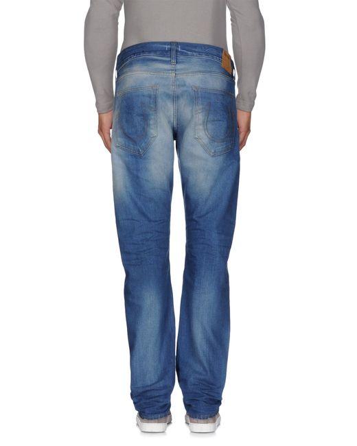 True Religion   Blue Denim Trousers for Men   Lyst
