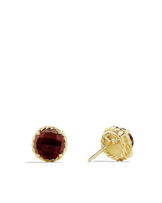 David Yurman | Yellow Chatelaine Earrings With Garnet In 18k Gold | Lyst