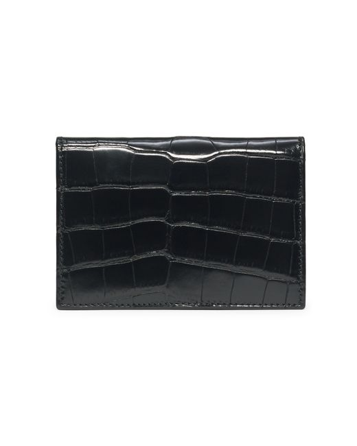 Pink Pony | Black Slim Alligator Card Case for Men | Lyst