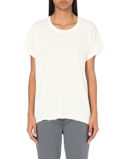 The Great | White The Boxy Cotton-jersey T-shirt | Lyst