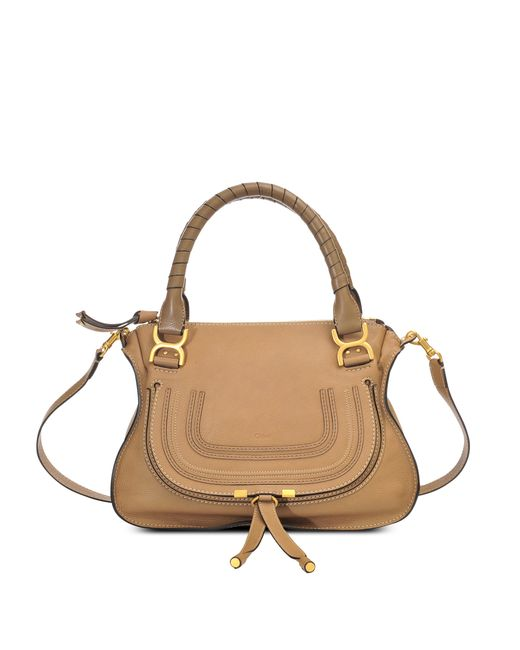 Chloé   Brown Marcie Medium Double Carry Bag   Lyst