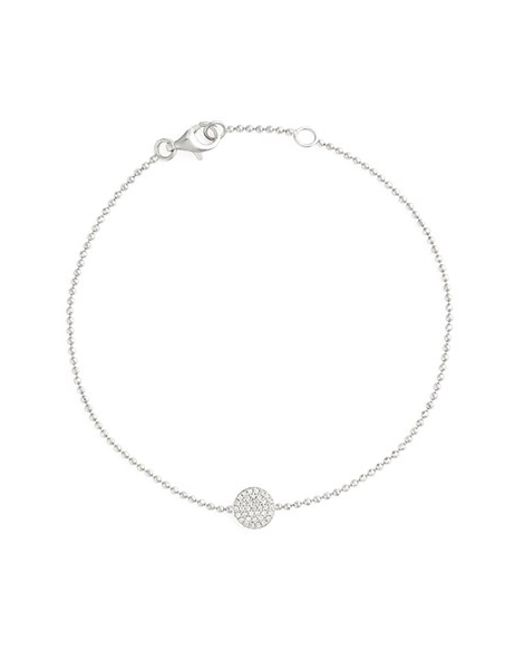 Bony Levy | Metallic 'aurora' Diamond Pave Circle Line Bracelet (nordstrom Exclusive) | Lyst