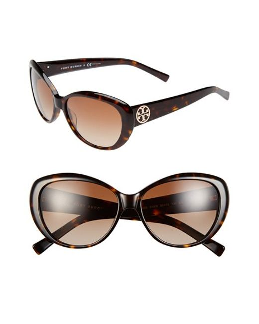 Tory Burch | Brown 56mm Cat Eye Sunglasses | Lyst