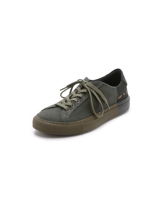 6397   Green Two-Toned Canvas Low-Top Sneakers   Lyst