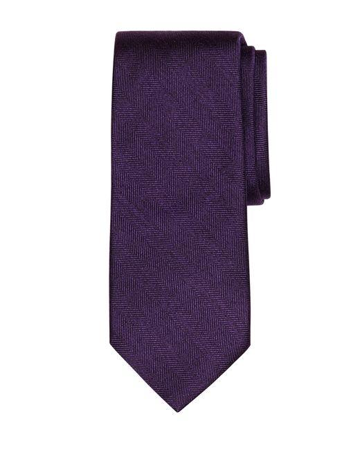 Brooks Brothers | Purple Heathered Herringbone Tie for Men | Lyst