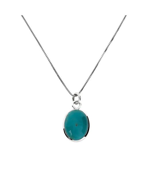 Azendi | Metallic Sterling Silver Pendant With Turquoise | Lyst