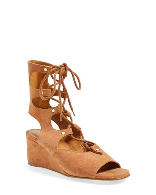 Chloé | Brown Women's Foster Gladiator Wedge Sandals | Lyst