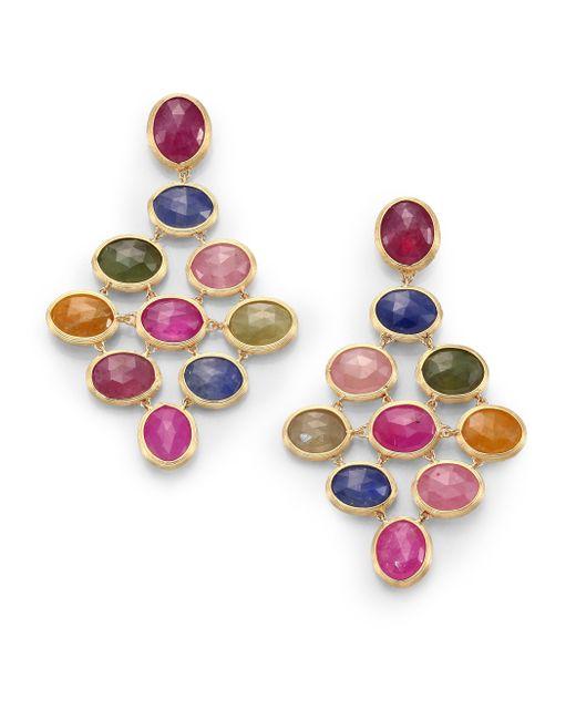 Marco Bicego | Siviglia Multicolor Sapphire & 18k Yellow Gold Drop Earrings | Lyst