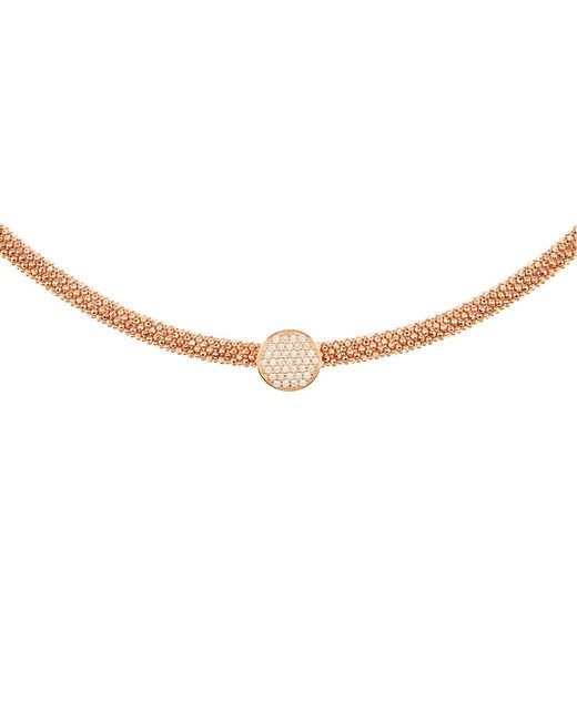 Links of London | Pink Star Dust Rose Gold Round Necklace | Lyst