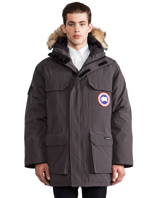 Canada Goose Expedition Coyote Fur Trim Parka In Gray For