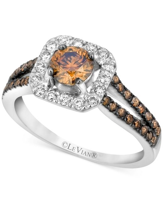 Le Vian | Brown Chocolate And White Diamond Engagement Ring In 14k White Gold (1 Ct. T.w.) | Lyst