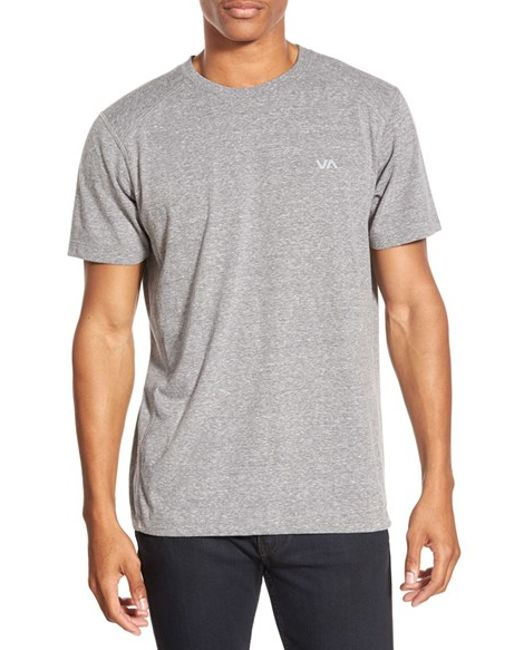 RVCA | Gray 'compound' Performance Crewneck T-shirt for Men | Lyst