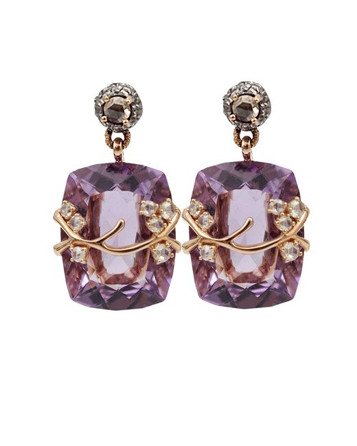 Federica Rettore | White Amethyst Drop Earrings | Lyst