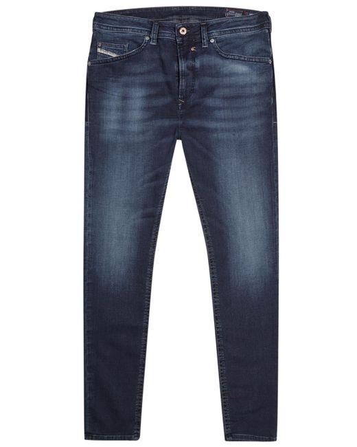diesel spender blue skinny jogg jeans in blue for men. Black Bedroom Furniture Sets. Home Design Ideas