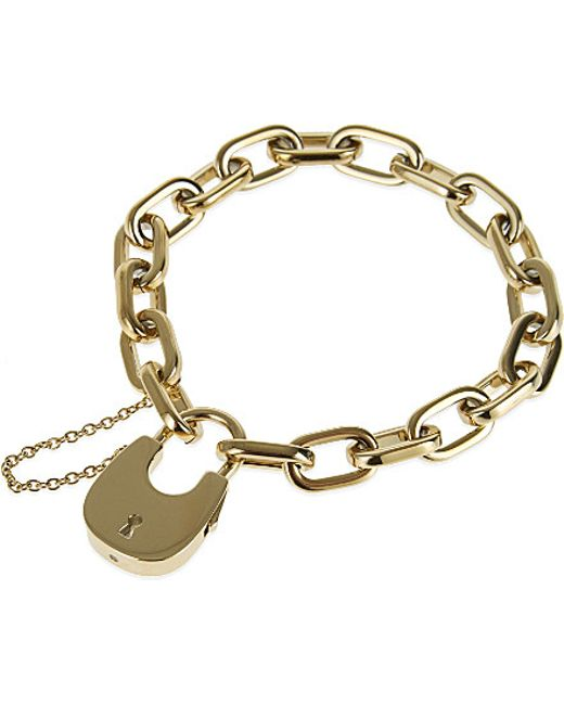 Givenchy | Metallic Chainlink Cross Bracelet | Lyst