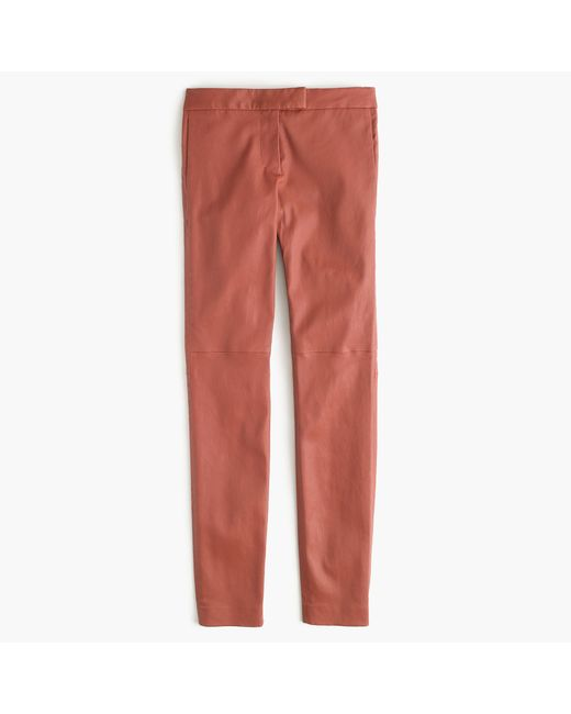 J.Crew | Brown Collection Leather Ryder Pant | Lyst